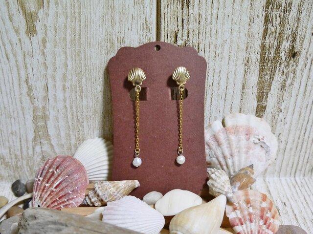 真珠のしずく イヤリングの画像1枚目