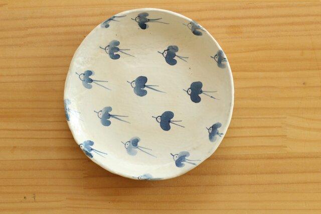 粉引幸せの青い鳥お皿。の画像1枚目