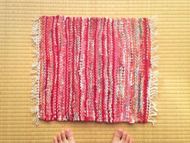 裂き織りマットBの画像1枚目