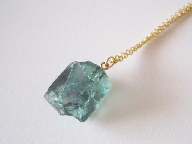 ロジャリーフローライト原石のネックレス/蛍石/England Rogerly Mine 14kgfの画像1枚目