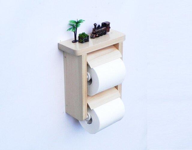 木製トイレットペーパーホルダー Ver.2(ナチュラル)の画像1枚目