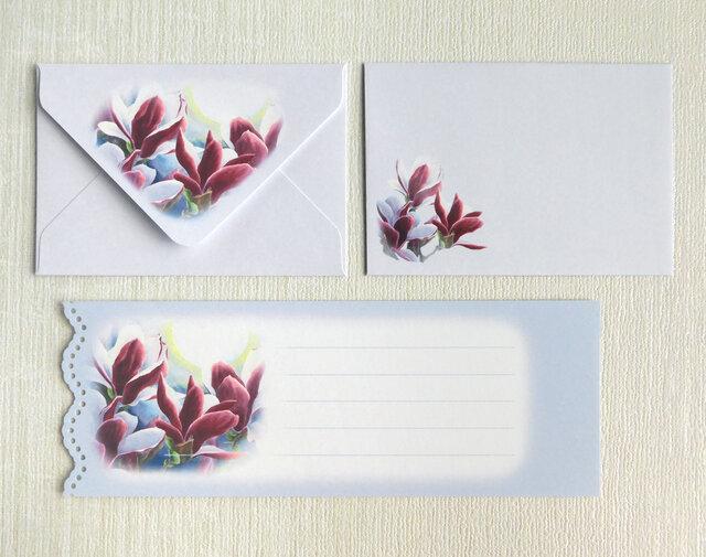 木蓮のミニ封筒&メッセージカード(外模様)の画像1枚目