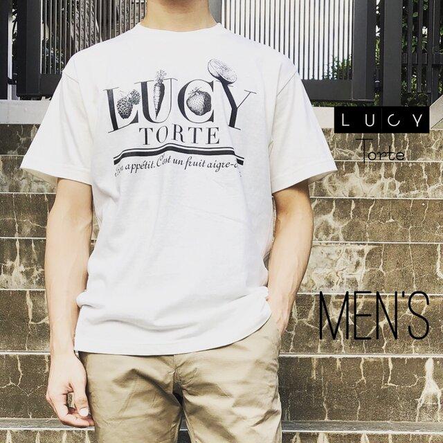 フルーツロゴ Tee【IVORY】〜Men's〜の画像1枚目
