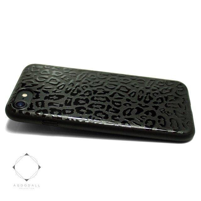iPhone7/iPhone8/iPhoneSE2(新型)特殊グロス加工 レザーケースカバー(レオパード)エナメルタッチの画像1枚目