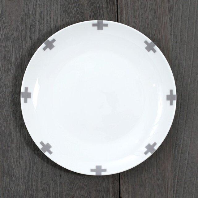 お皿 グレークロス 2枚セット jubileeplatex112の画像1枚目