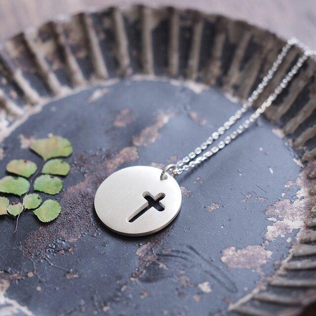 Coin 十字架 メンズ ネックレス シルバー925の画像1枚目