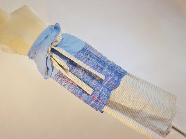 手織り ロンジー風巻スカート 春夏の画像1枚目