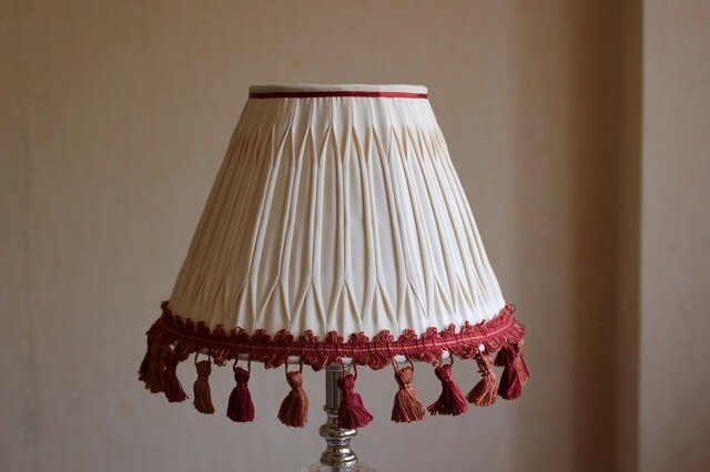 布ランプシェード 交換用 ホルダー式 :『ガブリエーレ 』 クリームベージュの画像1枚目