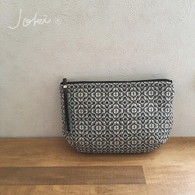 pouch[手織りポーチ] ブラックの画像1枚目