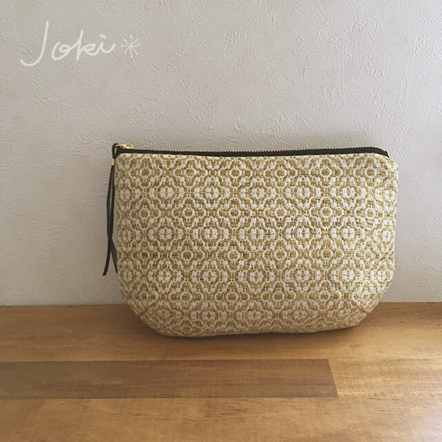 pouch[手織りポーチ] イエローの画像1枚目