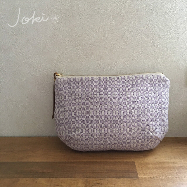 pouch[手織りポーチ] ラベンダーの画像1枚目