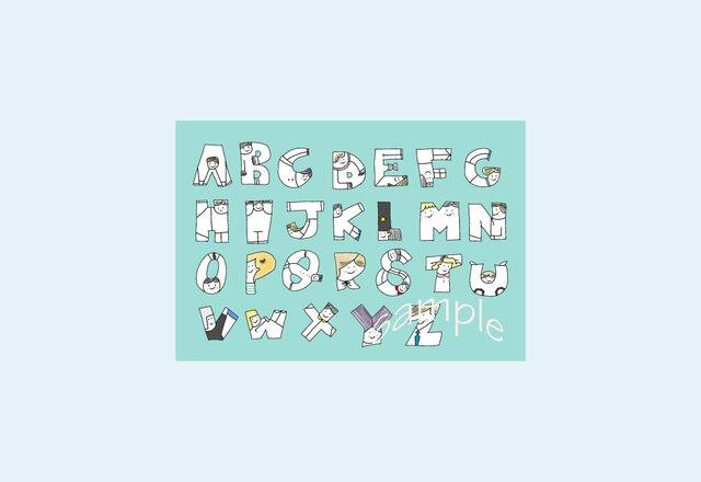 [A¥480] ポストカード¥3枚set :002番 「ABC」の画像1枚目
