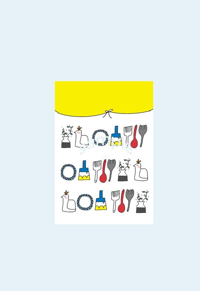[A¥480] ポストカード¥3枚set :003番 「とりとかばんと」の画像1枚目