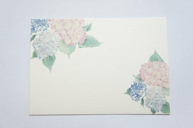 メッセージカード【雨降り紫陽花】の画像1枚目