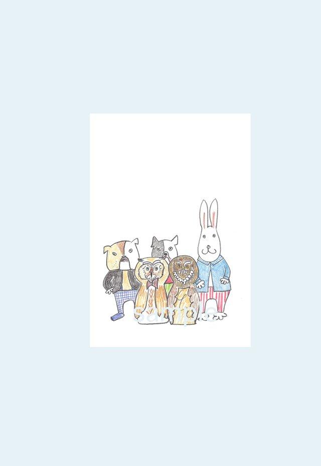[A¥480] ポストカード¥3枚set :015番 「しゅうごう〜」の画像1枚目