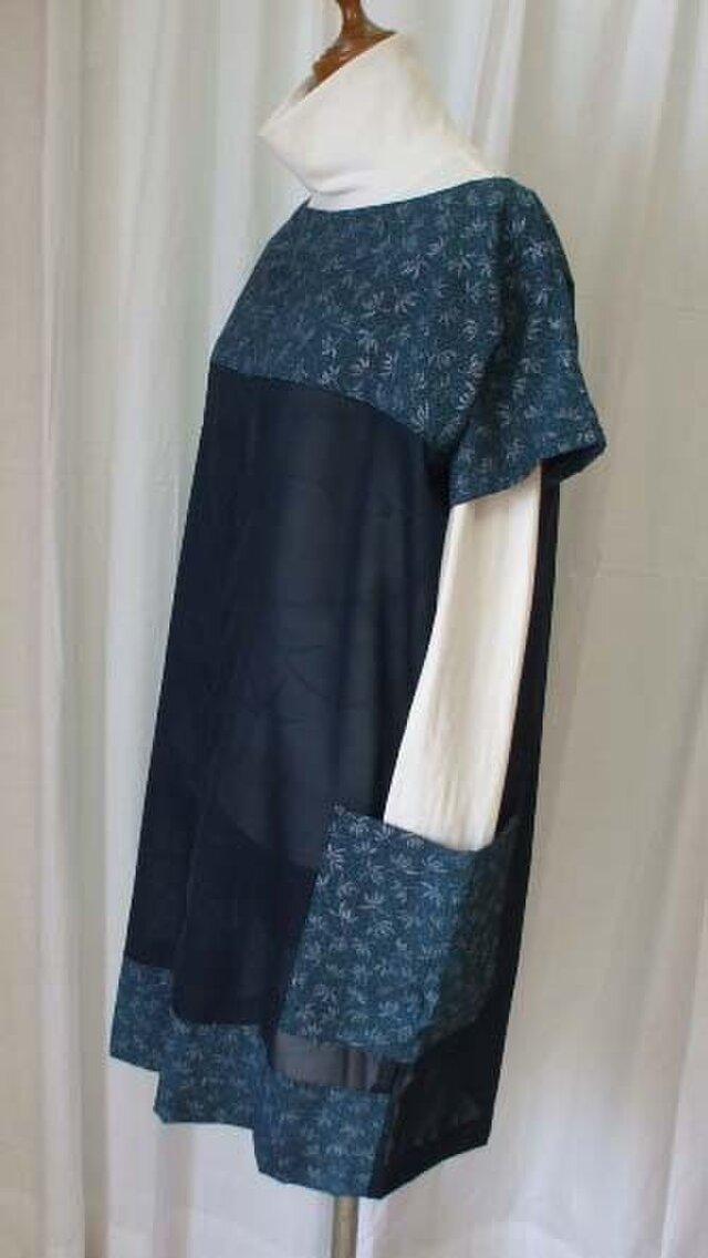 絹 紗と銘仙からのチュニックの画像1枚目