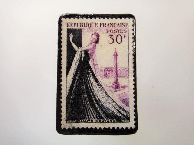 フランス 切手ブローチ3845の画像1枚目
