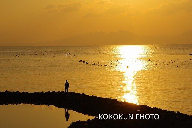 有明海の朝の風景「ポストカード5枚セット」の画像1枚目