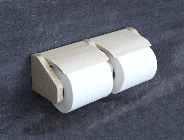 木製トイレットペーパーホルダー Ver.11(ナチュラル艶消し)の画像1枚目