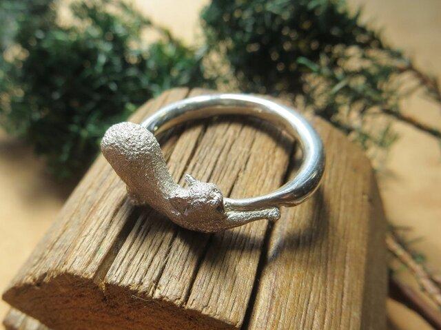 指輪 猫の伸び(大)17~30号の画像1枚目