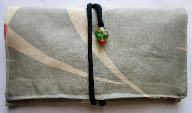 麻の着物で作った和風財布・ポーチ 3716の画像1枚目
