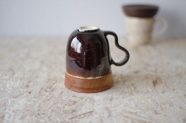 マグカップ / 木の蓋付き No.32の画像1枚目