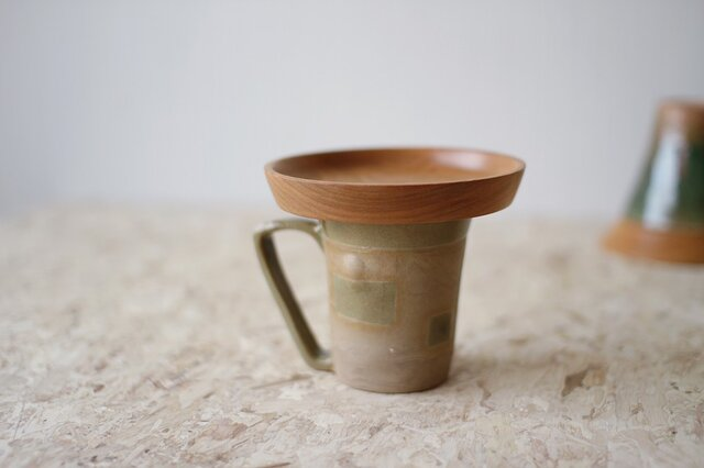 マグカップ / 木の蓋付き No.38の画像1枚目