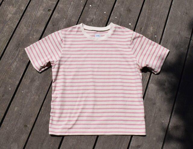 Crew border ボーダー クルーネック Tシャツの画像1枚目