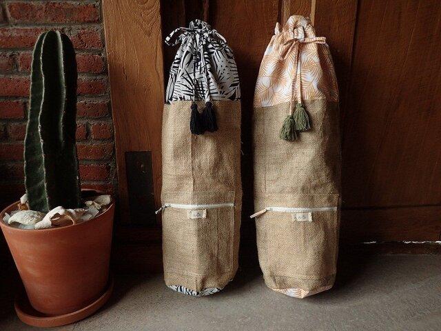 Kinchaku Yoga Mat Bag - palms -の画像1枚目