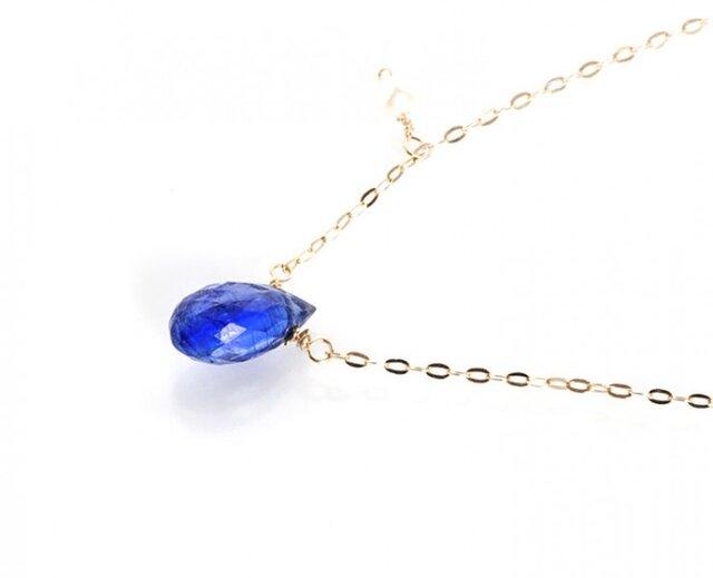 K10ブルーカイヤナイトネックレスの画像1枚目