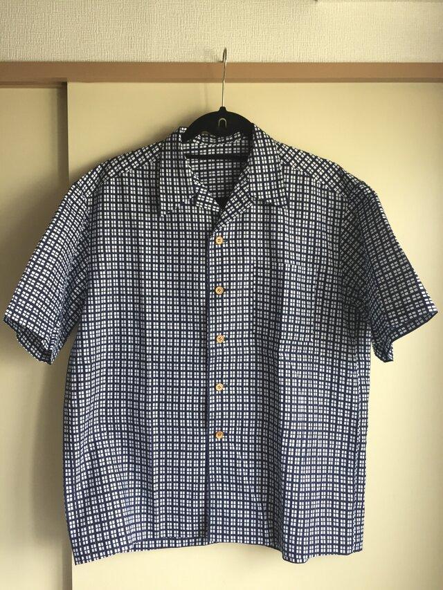 浴衣シャツ(メンズ向け・Lサイズ)伝統柄の画像1枚目