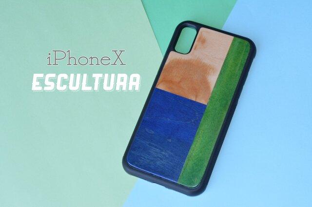 即納 iPhoneケース アイフォンケース スケートボード 木目 天然木 木製ケース  iPhoneXの画像1枚目