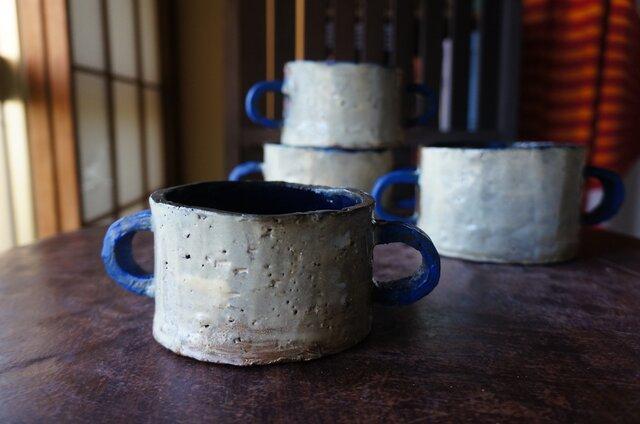 青いCハンドル 300mlスープカップSの画像1枚目