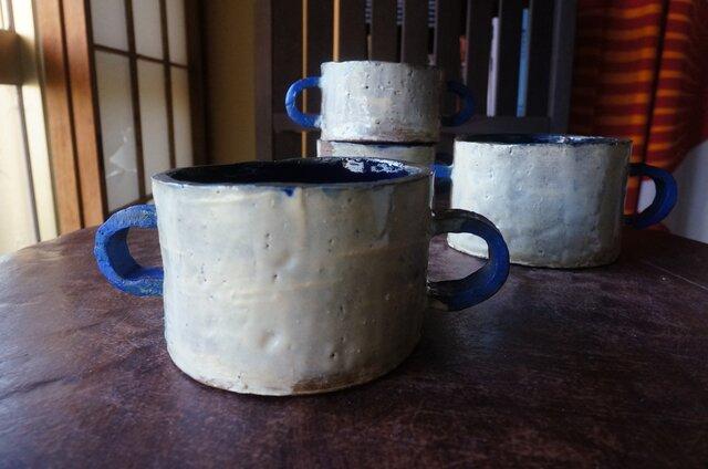 青いCハンドル 550mlスープカップLの画像1枚目