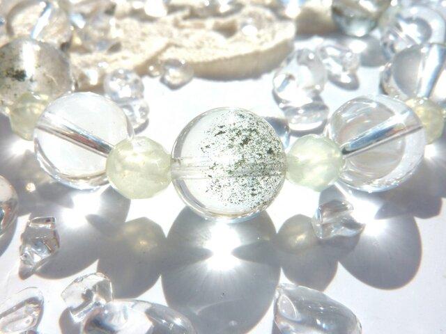 透明な庭園水晶☆グランディング強化のブレスの画像1枚目