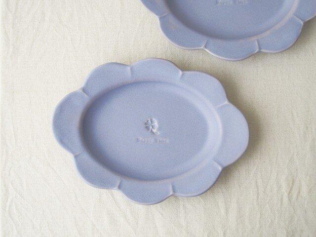 マカロンラベンダー・花だえんリム皿の画像1枚目
