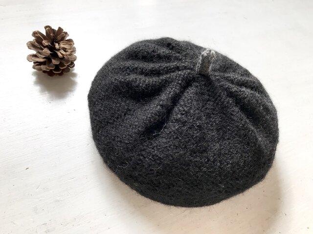 ニットベレー帽[ブラック]の画像1枚目