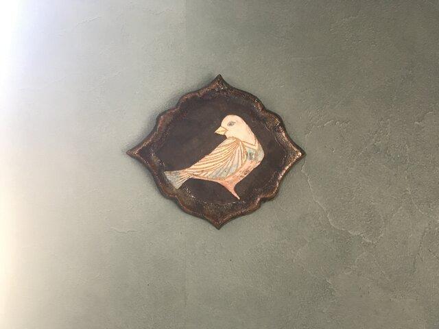 陶の壁掛け(とり)の画像1枚目