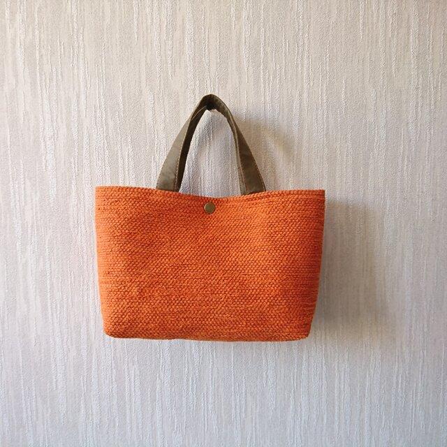 裂き織りのバッグS  夕空の画像1枚目