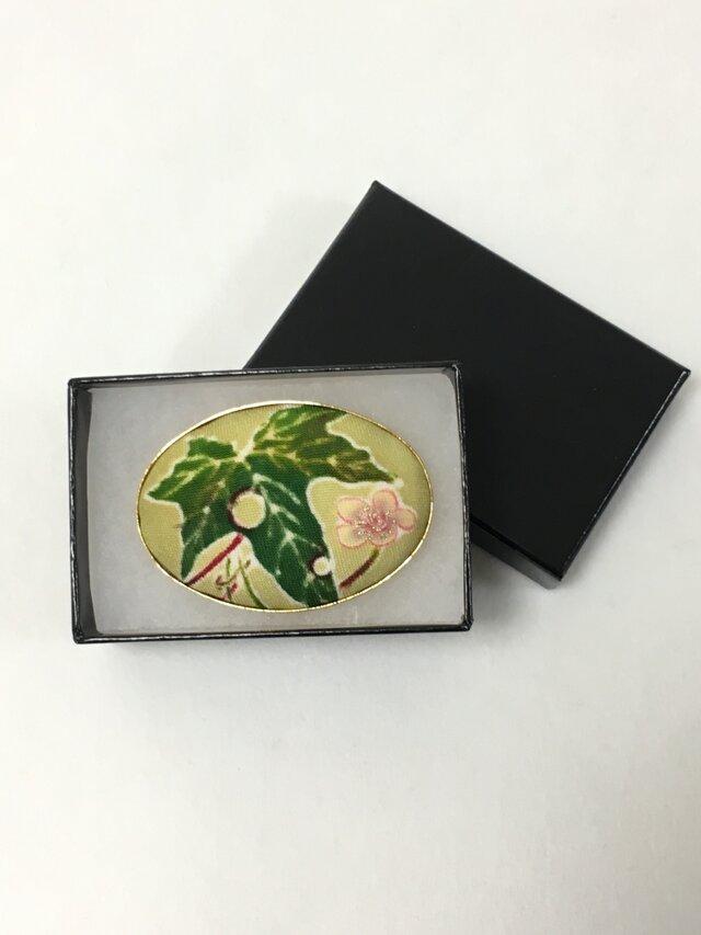 手描き友禅☆帯留め「若冲写し・瓜」の画像1枚目
