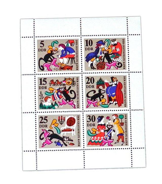 ドイツ未使用切手シート(グリム童話 長靴を履いた猫)Germany  DA-STE109の画像1枚目
