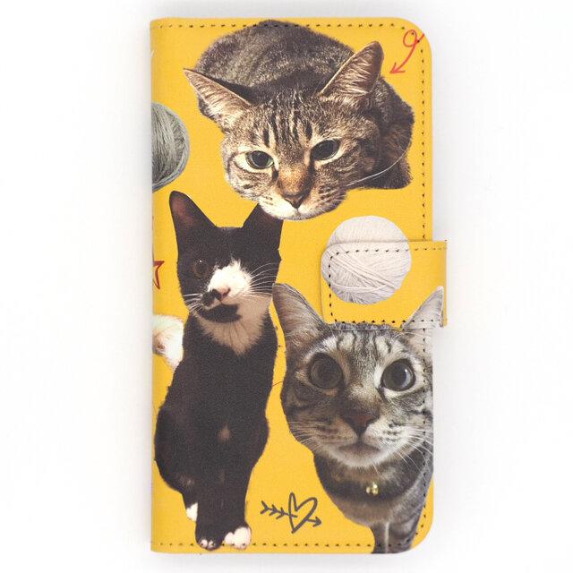オーダーメイド スマホケース 手帳型 オリジナル ペット 犬 猫 メモリアル プレゼント メンズ レディース  うちの子の画像1枚目
