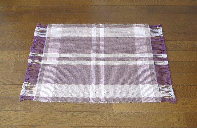 手織りマット O×B 幅53cmの画像1枚目