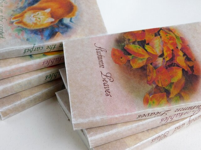 ワックスペーパーの文庫本カバー 2枚 野菜+ブラウン系の画像1枚目