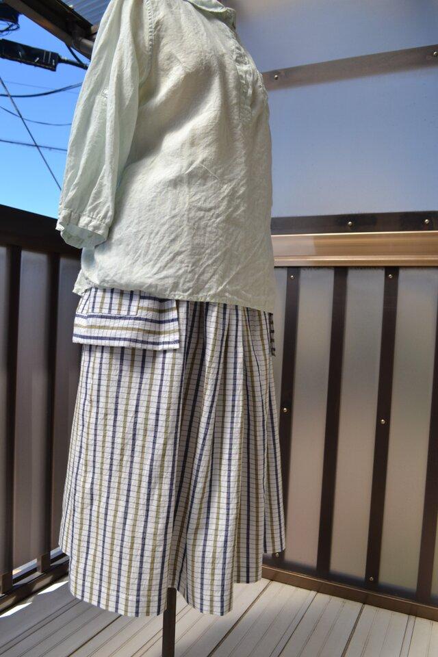 浴衣地 タック入りスカート J-14の画像1枚目