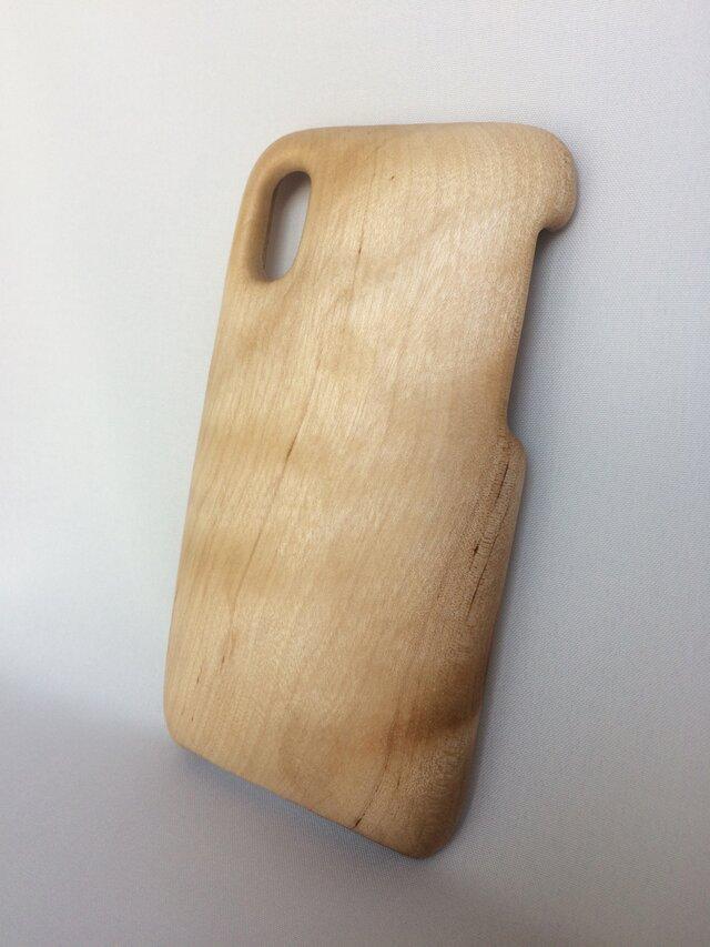 【受注制作】木製iPhoneケース(iPhone X用, 他)(カバザクラ)の画像1枚目