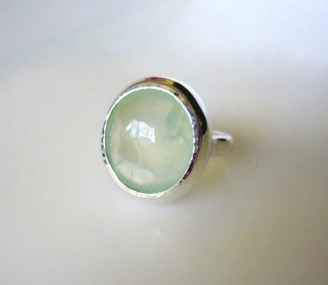 手摺りプレナイトの指輪Ⅲの画像1枚目