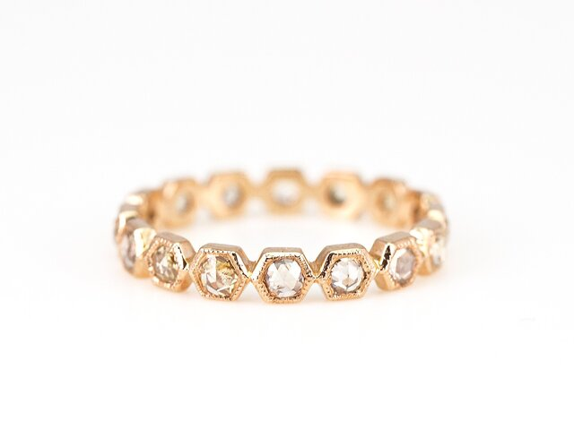 Rosecut Diamond Eternity Ring / Hexagonの画像1枚目
