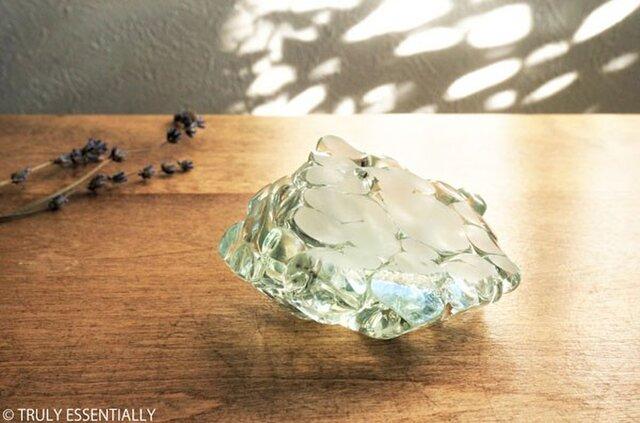 ガラスのインテリアオブジェ -「まるいガラス」#202 ● 約8cmの画像1枚目
