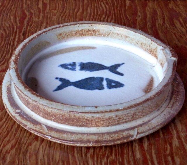 双魚文のお皿の画像1枚目